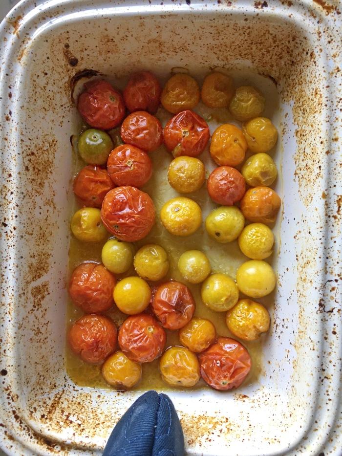 almonds and asana heirloom tomatoes