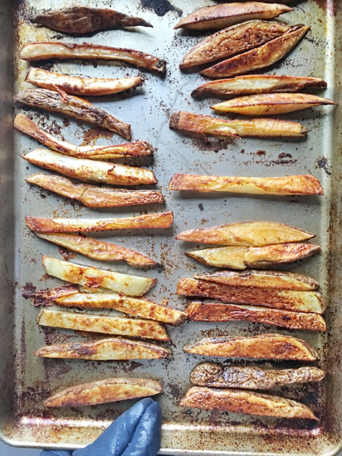 almonds and asana baked fries