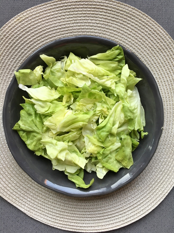 almonds and asana butter lettuce salad