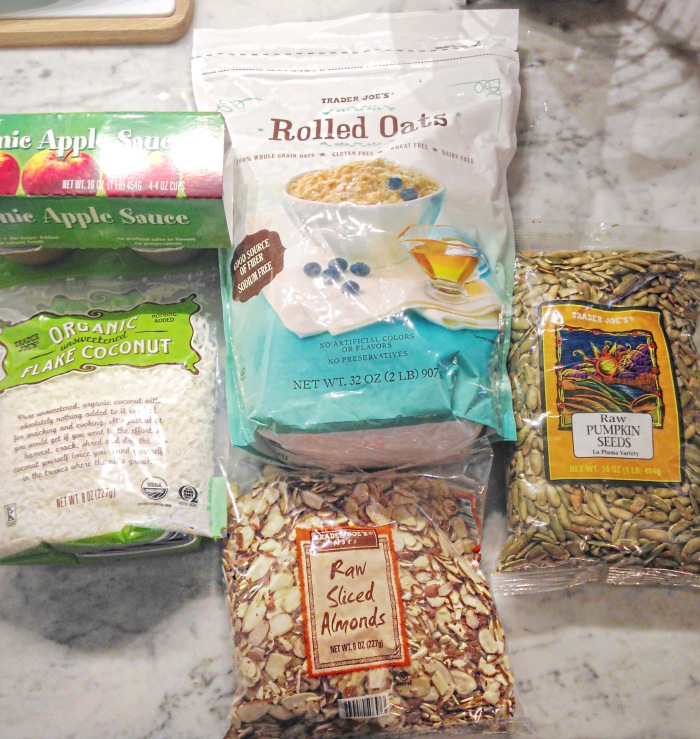 almonds and asana granola prep