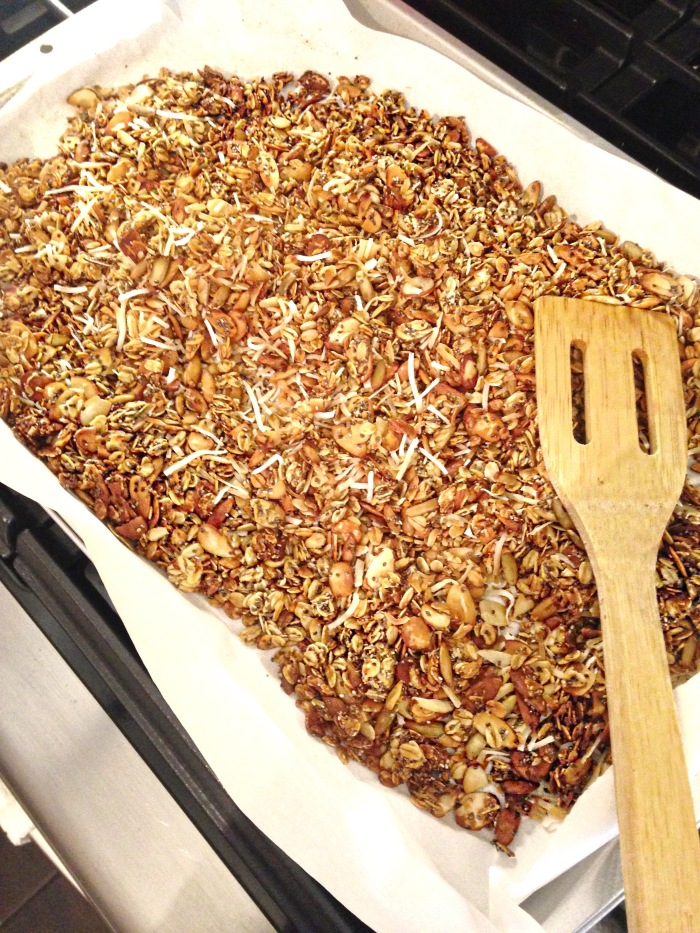 almonds and asana homemade baked granola