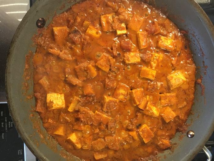 almonds and asana indian tofu simmer
