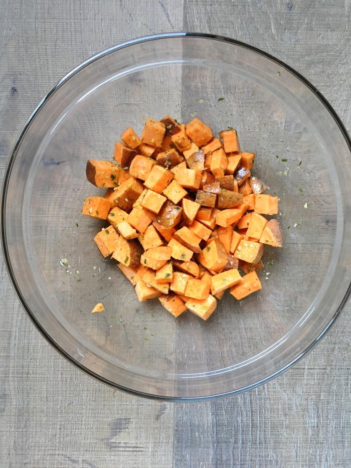 almonds and asana sweet potato onion salt