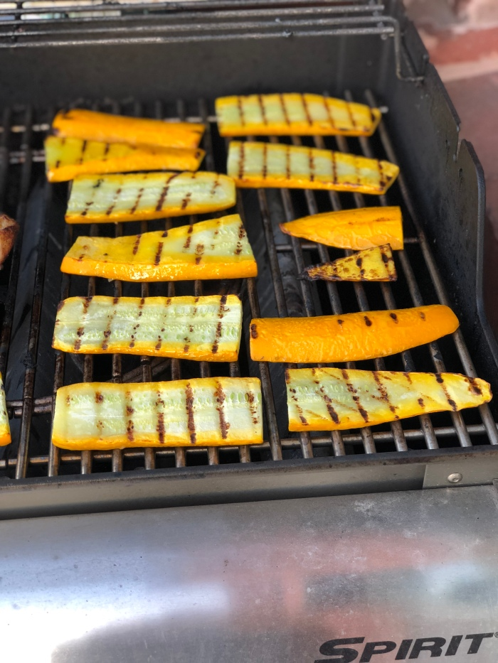 almonds and asana grilled squash