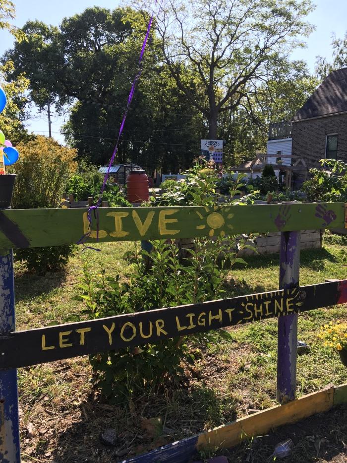 almonds and asana igrow garden sign