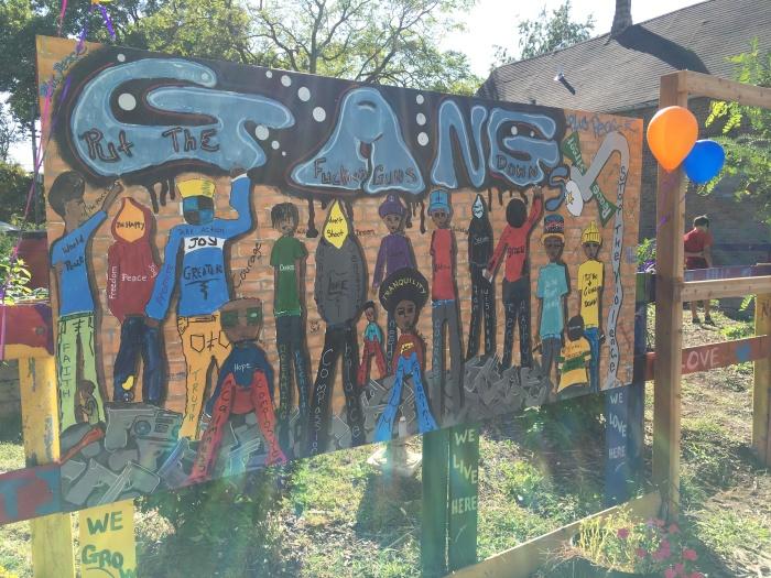 almonds and asana igrow peace fest gang sign