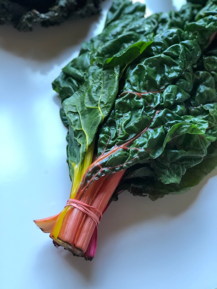 almonds and asana rainbow chard