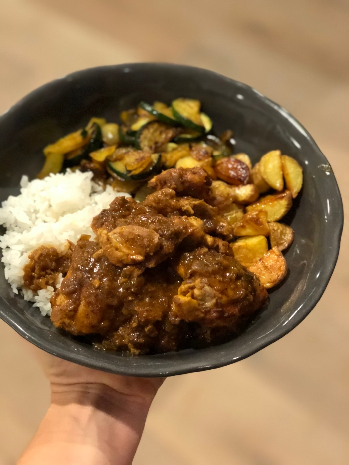 almonds and asana chicken tikka masala spice mode dinner