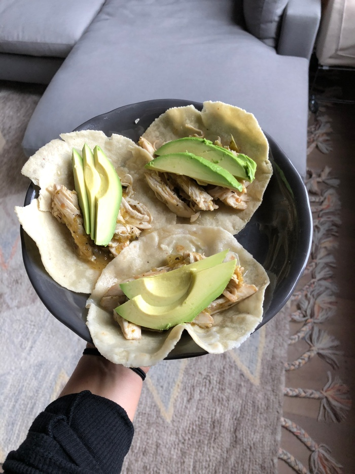 almonds and asana sous vide chicken tacos